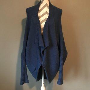 Blue oversized cardigan sweater by BCBG